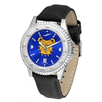 North Carolina A&T University Aggies Mens Watch - Competitor Anochrome Poly/Leather Band