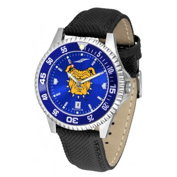 North Carolina A&T University Aggies Mens Watch - Competitor Anochrome Colored Bezel Poly/Leather Band