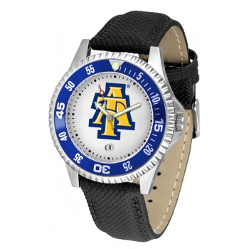 North Carolina A&T University Aggies Mens Watch - Competitor Poly/Leather Band