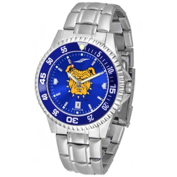 North Carolina A&T University Aggies Mens Watch - Competitor Anochrome - Colored Bezel - Steel Band