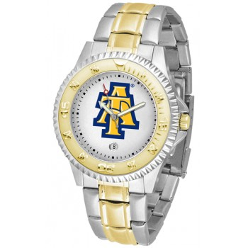 North Carolina A&T University Aggies Mens Watch - Competitor Two-Tone