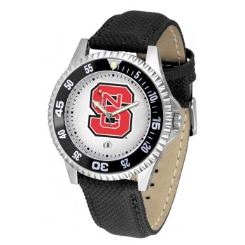 North Carolina State Wolfpack Mens Watch - Competitor Poly/Leather Band