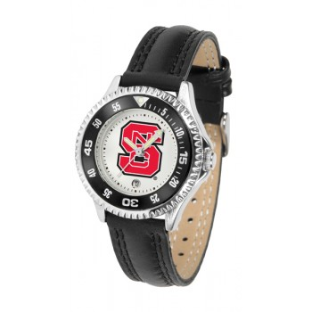 North Carolina State Wolfpack Ladies Watch - Competitor Poly/Leather Band