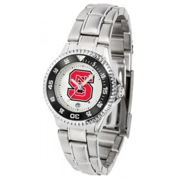 North Carolina State Wolfpack Ladies Watch - Competitor Steel Band