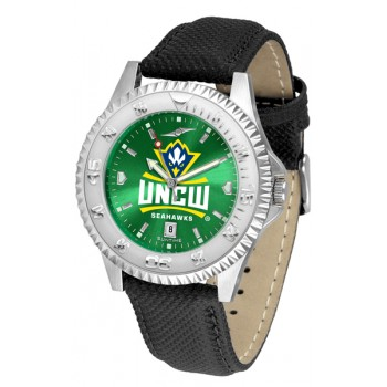 University Of North Carolina At Wilmington Mens Watch - Competitor Anochrome Poly/Leather Band