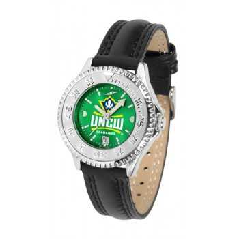 University Of North Carolina At Wilmington Ladies Watch - Competitor Anochrome Poly/Leather Band