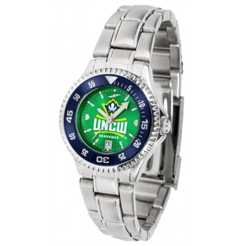 University Of North Carolina At Wilmington Ladies Watch - Competitor Anochrome - Colored Bezel - Steel Band