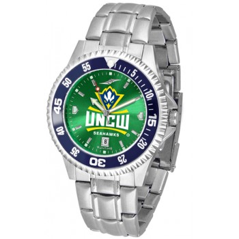 University Of North Carolina At Wilmington Mens Watch - Competitor Anochrome - Colored Bezel - Steel Band