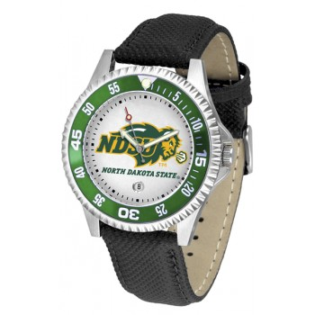 North Dakota State University Bison Mens Watch - Competitor Poly/Leather Band