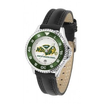 North Dakota State University Bison Ladies Watch - Competitor Poly/Leather Band
