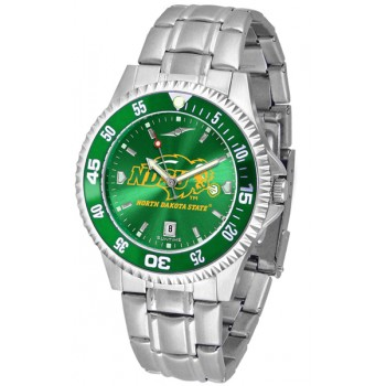 North Dakota State University Bison Mens Watch - Competitor Anochrome - Colored Bezel - Steel Band