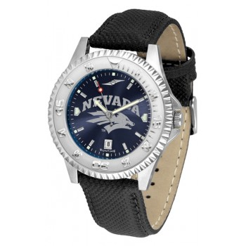 University Of Nevada Wolfpack Mens Watch - Competitor Anochrome Poly/Leather Band
