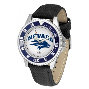 University Of Nevada Wolfpack Mens Watch - Competitor Poly/Leather Band