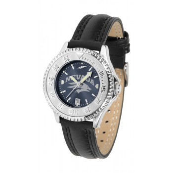 University Of Nevada Wolfpack Ladies Watch - Competitor Anochrome Poly/Leather Band