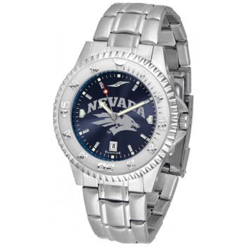 University Of Nevada Wolfpack Mens Watch - Competitor Anochrome Steel Band