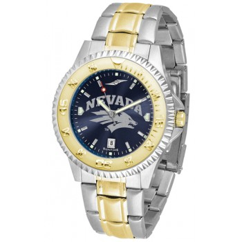 University Of Nevada Wolfpack Mens Watch - Competitor Anochrome Two-Tone