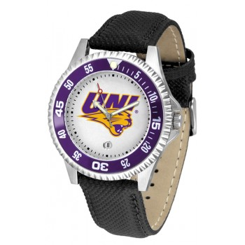 University Of Northern Iowa Panthers Mens Watch - Competitor Poly/Leather Band