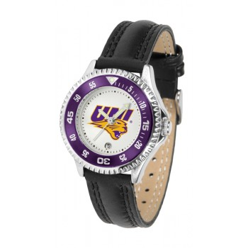University Of Northern Iowa Panthers Ladies Watch - Competitor Poly/Leather Band