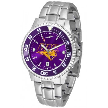 University Of Northern Iowa Panthers Mens Watch - Competitor Anochrome - Colored Bezel - Steel Band
