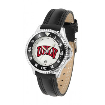 University Of Las Vegas Rebels ( Unlv ) Ladies Watch - Competitor Poly/Leather Band