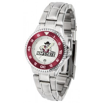 New Mexico State University Pistol Pete Ladies Watch - Competitor Steel Band