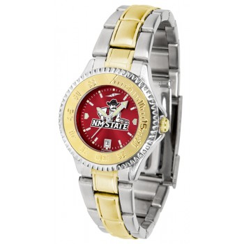 New Mexico State University Pistol Pete Ladies Watch - Competitor Anochrome Two-Tone