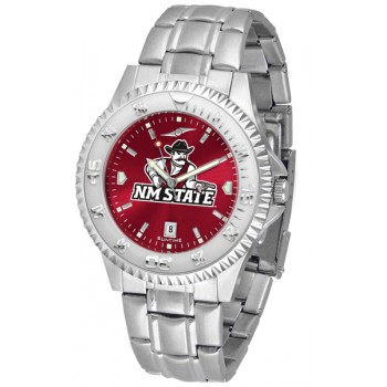 New Mexico State University Pistol Pete Mens Watch - Competitor Anochrome Steel Band