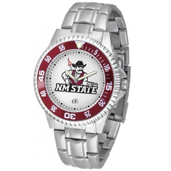 New Mexico State University Pistol Pete Mens Watch - Competitor Steel Band