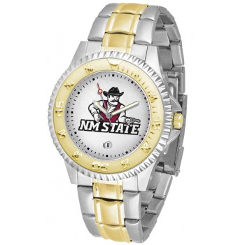 New Mexico State University Pistol Pete Mens Watch - Competitor Two-Tone