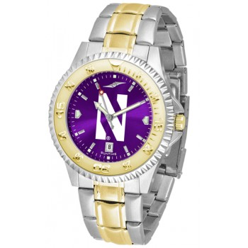 Northwestern University Wildcats Mens Watch - Competitor Anochrome Two-Tone
