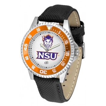 Northwestern State University Demons Mens Watch - Competitor Poly/Leather Band