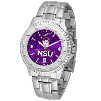 Northwestern State University Demons Mens Watch - Competitor Anochrome Steel Band