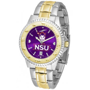 Northwestern State University Demons Mens Watch - Competitor Anochrome Two-Tone