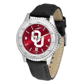 University Of Oklahoma Sooners Mens Watch - Competitor Anochrome Poly/Leather Band