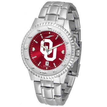 University Of Oklahoma Sooners Mens Watch - Competitor Anochrome Steel Band
