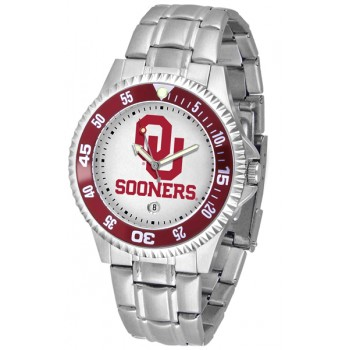University Of Oklahoma Sooners Mens Watch - Competitor Steel Band