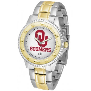 University Of Oklahoma Sooners Mens Watch - Competitor Two-Tone