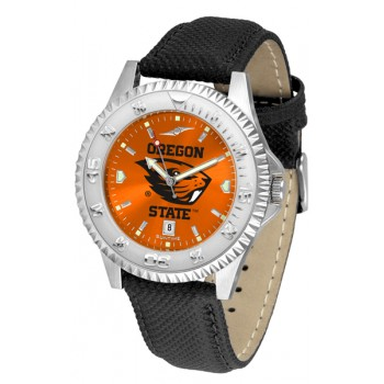 Oregon State University Beavers Mens Watch - Competitor Anochrome Poly/Leather Band