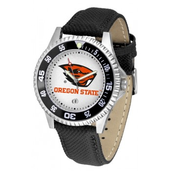Oregon State University Beavers Mens Watch - Competitor Poly/Leather Band