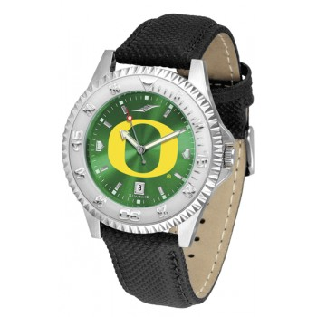 University Of Oregon Ducks Mens Watch - Competitor Anochrome Poly/Leather Band