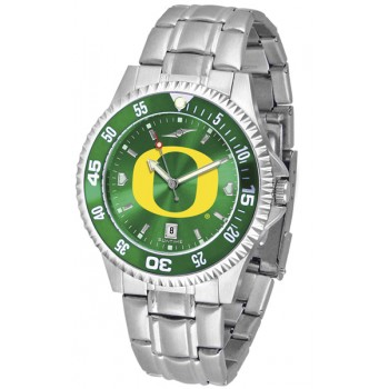 University Of Oregon Ducks Mens Watch - Competitor Anochrome - Colored Bezel - Steel Band