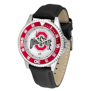 Ohio State University Buckeyes Mens Watch - Competitor Poly/Leather Band
