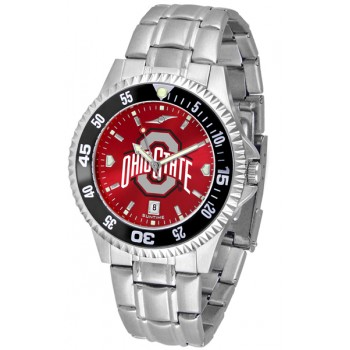 Ohio State University Buckeyes Mens Watch - Competitor Anochrome - Colored Bezel - Steel Band