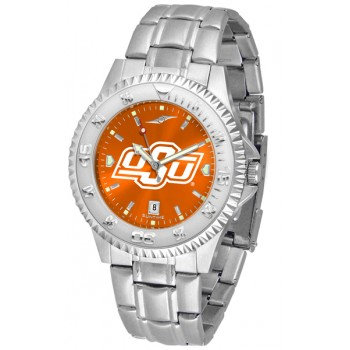 Oklahoma State University Cowboys Mens Watch - Competitor Anochrome Steel Band