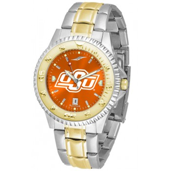 Oklahoma State University Cowboys Mens Watch - Competitor Anochrome Two-Tone