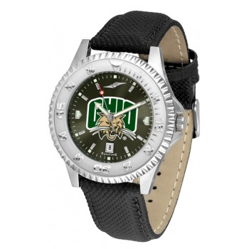 Ohio University Bobcats Mens Watch - Competitor Anochrome Poly/Leather Band