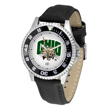 Ohio University Bobcats Mens Watch - Competitor Poly/Leather Band