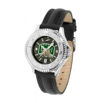 Ohio University Bobcats Ladies Watch - Competitor Anochrome Poly/Leather Band