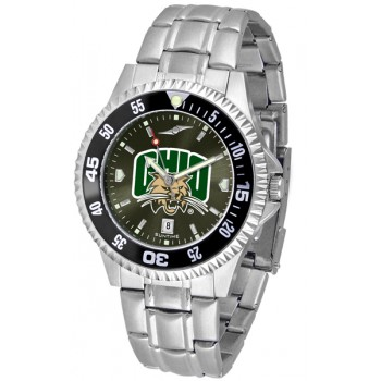 Ohio University Bobcats Mens Watch - Competitor Anochrome - Colored Bezel - Steel Band