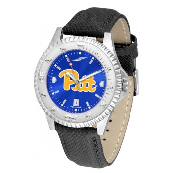 University Of Pittsurgh Panthers Mens Watch - Competitor Anochrome Poly/Leather Band